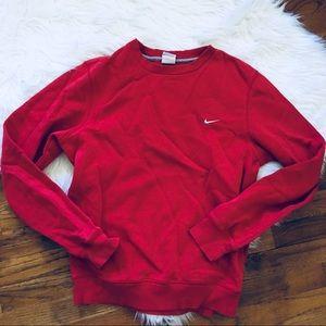 Red Nike Crew neck